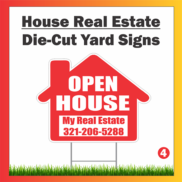 Custom Shaped Yard Signs