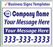 Browse Business Signs Templates