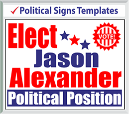 Browse Political Signs Templates