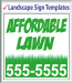 "Browse Landscape Signs Templates 48"" x 48"""