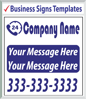 "Browse Business Signs Templates 48"" x 48"""
