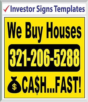 "Browse Investor Signs Templates 48"" x 48"""