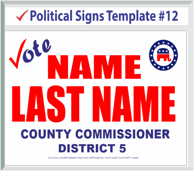 Select Political Signs Template #12