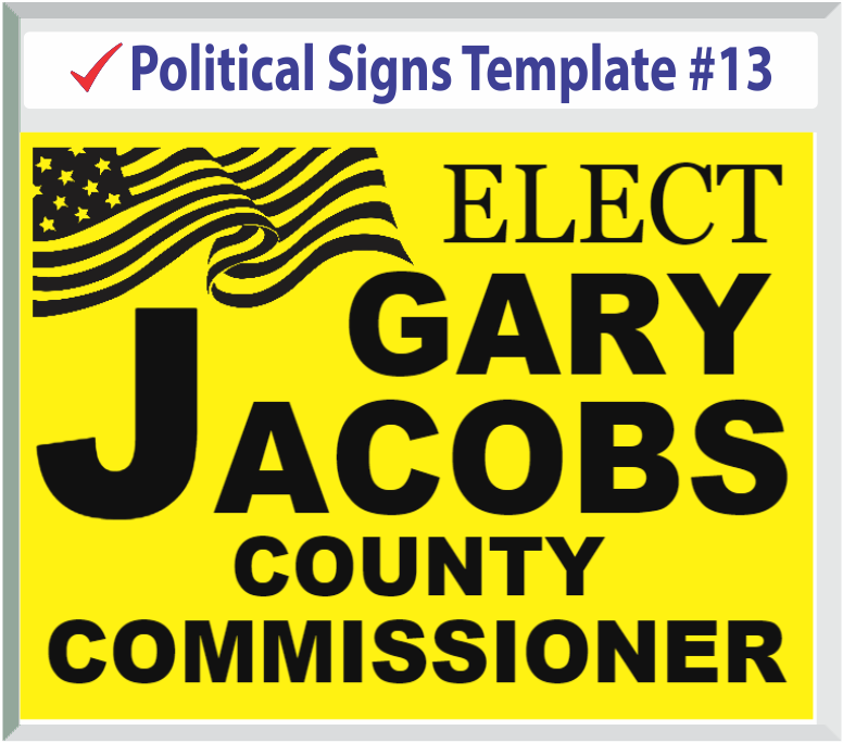 Select Political Signs Template #13