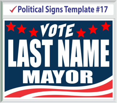 Select Political Signs Template #17