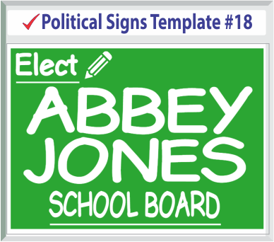Select Political Signs Template #18