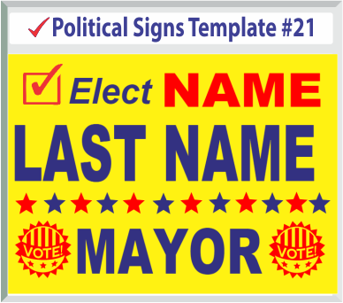Select Political Signs Template #21