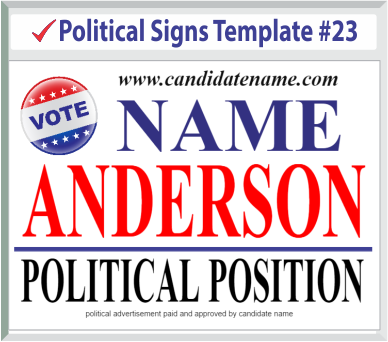 Select Political Signs Template #23