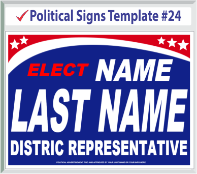 Select Political Signs Template #24