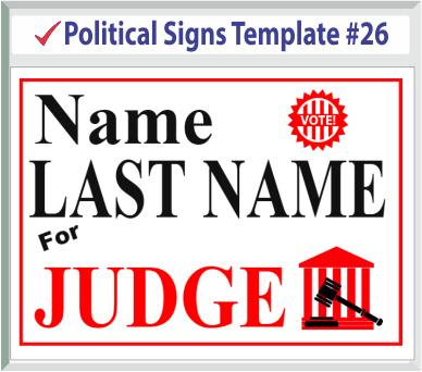 Select Political Signs Template #26
