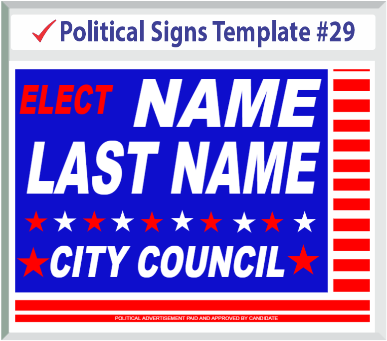 Select Political Signs Template #29