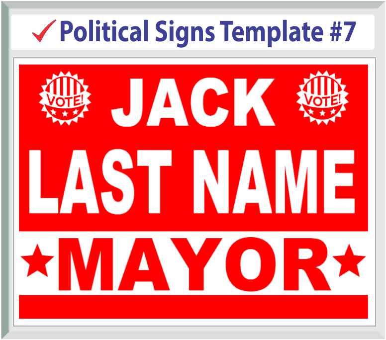 Select Political Signs Template #7