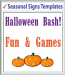 "Browse Seasonal Signs Templates 48"" x 48"""