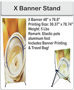 Order X Banner Stand